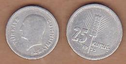 AC - TURKEY 25 KURUS 1935 SILVER COIN - Monnaies & Billets