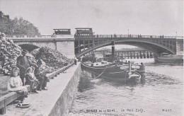 Transports - Péniche Moscou  - Pont Sully Paris - Omnibus - Publicité Magasins Au Gaspillage Le Havre 76 - Péniches