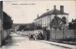 Accolay La Rue Neuve  Animée ! (pliure) - France