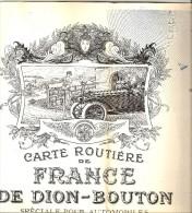 DE DION BOUTON PUTEAUX CARTES ROUTIERES ETAT EXCEPTIONNELLEMENT BIEN CONSERVE - Roadmaps