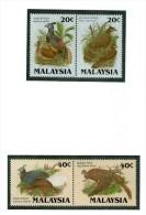 MALAISIE 1986 OISEAUX   Yvert N°330/33  NEUF MNH** - Uccelli