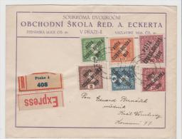 TSC005 / Einschreiben/Express Mit Mi.Nr.98-103 Sowie 49 Ex Prag 29.1.20