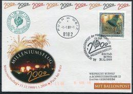 2000 Austria Ballonpost Pro Juventute Sonderballonpost 55 Charity Flight Cover / Puch Weiz Milleniumsflug - Transport