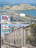 GUERNSEY  284-285 Auf 2 Maximumkarten, 1984, Konferenz Der Postverwaltungen Des Commonwealth (CCPA), Jersey - Guernsey