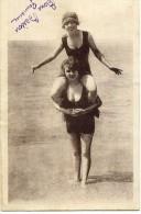 """LL , Femmes à La Plage , DIEPPE , """"Après Le Bain, Un Peu D'exercice"""", écrite En 1932 , N°5159 - Femmes"""