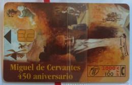 SPAIN - Chip - 2000+100 Units - Miguel De Cervantes 450 Aniversario - CP-101 - Mint Blister - España
