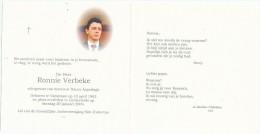 RONNIE VERBEKE °1963 VARSENARE +2004 LICHTERVELDE ECHTG NANCY ASPESLAGH - Religione & Esoterismo