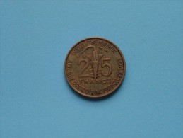 1957 West Africa French TOGO - 25 Francs / KM 9 ( Uncleaned Coin / Please See Photo ) !! - Colonies