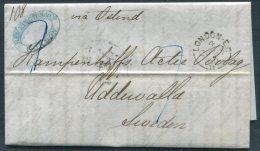 1860 GB London Stampless Entire - Uddevalla, Sweden Via Ostend /Hamburg K.S.P.A.(D) - 1840-1901 (Victoria)