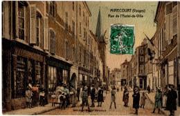 MIRECOURT (88) RUE DE L'HOTEL De VILLE. 1912. CARTE COLORISEE. - Mirecourt