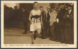 1928 Holland Amsterdam Olympische Spelen Olympics Weenenk & Snel Postcard 105 Marathon Germany Deutscher Hempel - Olympic Games
