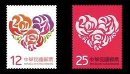 TAIWAN 2013 - Saint Valentin - 2v Neuf // Mnh - 1945-... République De Chine