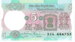 India - Pick 80q - 5 Rupees 1997 - Unc - Inde