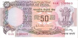 India - Pick 84d - 50 Rupees 1985-1990 - Unc - Inde