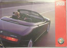 DEPLIANT - BROCHURE - ALFA ROMEO SPIDER 1995 - Voitures