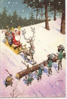 Le Père Noël Et Les Dalton  - Lucky Comics 2003 Morris - Carte Double (illustrateurs) - Kerstmis