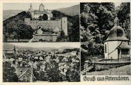 R  Gruss Aus Attendorn  (Schloss Und Wallfahrtskapelle) Mit Notopfermarke - Attendorn