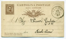 20.6.1887, Da Varmo (Udine) Ad Ascoli Piceno - 1878-00 Umberto I
