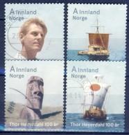 #Norway 2014. Thor Heyerdahl. Michel 1847-50. Used - Oblitérés
