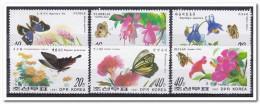 Noord Korea 1987, Postfris MNH, Flowers, Butterflies - Korea (Noord)