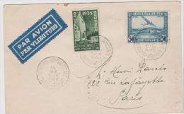B356 / Erstflug (first Flight) Anvers - Paris 1935 - Belgien