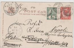 Qld019 / Picture Card Toowoomba Grammar School, Re-directed Twice 1904 - Briefe U. Dokumente