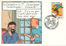 FRANCE 3303 FDC 1er Jour Carte TINTIN KUIFJE HERGE Festival D'Angoulême 2002 - Bandes Dessinées