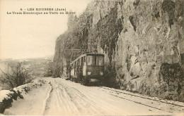 Dép 39 - Chemins De Fer - Tramways - Tramway - Les Rousses - Le Tram électrique Au Turu En Hiver - Bon état Général - France