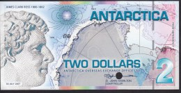 Antarctica 2 Dollar 30.07.2007 Specimen UNC - Bankbiljetten
