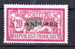 Andorre  23 Merson Neuf * * TB Aspect Bande Jaunie Sur La Gomme Cote 850 - Andorre Français