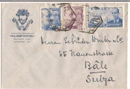 Lettre 1941 Destination Bâle Suisse + Censure - Marcas De Censura Nacional