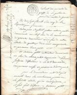 17 FLOREAL AN 5 -EXTRAIT MINUTES GREFFE JUSTICE DE PAIX  De Gueret Creuse  ( Lire Détail ) Qaa01 - Documents Historiques
