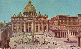 CPA ROMA - BASILICA DI S. PIETRO IN VATICANO - LA FACCIATA - Roma (Rome)