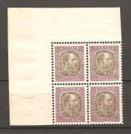 Islande 1902 ** N°43 (Christian IX) En Bloc De 4 Coin De Feuille, Sans Charnières - 1873-1918 Dépendance Danoise