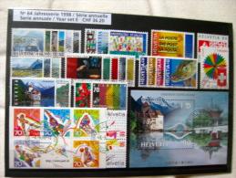 Suisse: Série Annuelle 1998 (oblitérée) - Suisse