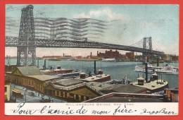 CPA États Unis - New York - Williamsburg Bridge - Ponts & Tunnels