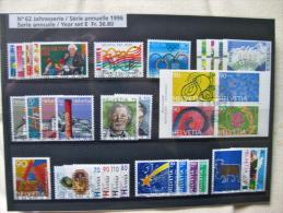 Suisse: Série Annuelle 1996 (oblitérée) - Suisse