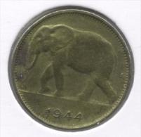 CONGO - LEOPOLD III * 1 Frank 1944 *  Prachtig  * Nr 7507 - Congo (Belga) & Ruanda-Urundi
