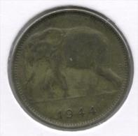 CONGO - LEOPOLD III * 1 Frank 1944 *  Z.Fraai  * Nr 7506 - 1934-1945: Leopold III