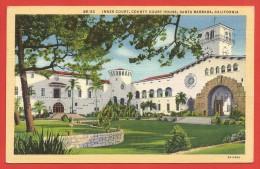 CPA États Unis - Californie - Santa Barbara - Inner Court County Court House - Santa Barbara