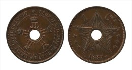 CONGO FREE STATE * 1 Cent 1887 * F D C * Nr 8538 - 1885-1909: Leopold II