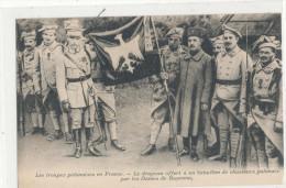 LES TROUPES POLONAISES EN FRANCE Le Drapeau Offert à Un Bataillon De Chasseurs Polonais Par Les Dames De Bayonne - Regimente