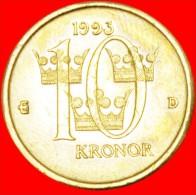 § THREE CROWNS: SWEDEN ★ 10 KRONER 1993! LOW START ★ NO RESERVE! - Svezia