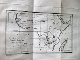 """3 Cartes Historiques Tirées De """"Histoire Complète Des Voyages Et Découvertes En Afrique 1821 - Carte Geographique"""