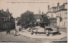 CPA 89. YONNE. JOIGNY.PLACE DE L HOTEL DE VILLE - RUE BOURG LE VICOMTE - Joigny