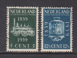 The Netherlands Used NVPH Nr 325/26 From 1939 / Catw 5.25 EUR - 1891-1948 (Wilhelmine)