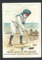 Chromo Publicitaire - Anvers - Antwerpen - Grand Bazar Du BON MARCHE - Enfant - Costume Marin - Plage Jeu  // - Au Bon Marché