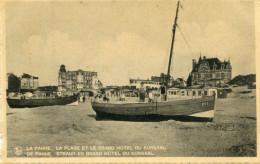 La Panne  La Plage Et Le Gran Hotel Du Kursaal - Belgique
