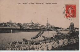 CPA 89. YONNE. JOIGNY. FETE VENITIENNE 1911 - BARQUES DECOREES. - Joigny