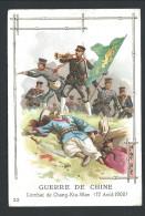 Chromo Publicitaire Lille - Chicorée A LA BELLE JARDINIERE - Guerre De Chine - Combat De Chang Kia Wan - Août 1900   // - Thee & Koffie